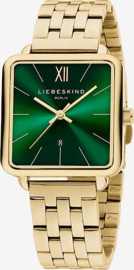 Liebeskind Berlin Uhr in gold / grün, Produktansicht