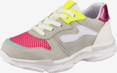 Be Mega Sneakers Low in neongelb / grau / hellgrau / neonpink / dunkelpink, Produktansicht
