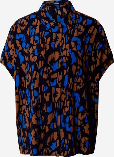 Someday Blouse 'Zamike bloom' in de kleur Blauw / Bruin / Zwart, Productweergave