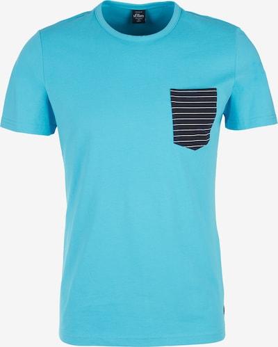 s.Oliver T-Shirt in blau: Frontalansicht