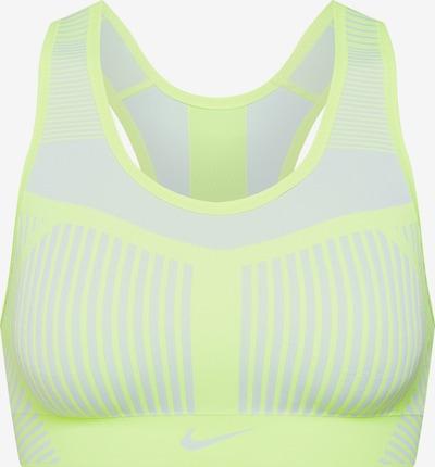 NIKE Sportovní podprsenka 'FE/NOM Flyknit High Support Sports Bra' - žlutá / bílá, Produkt