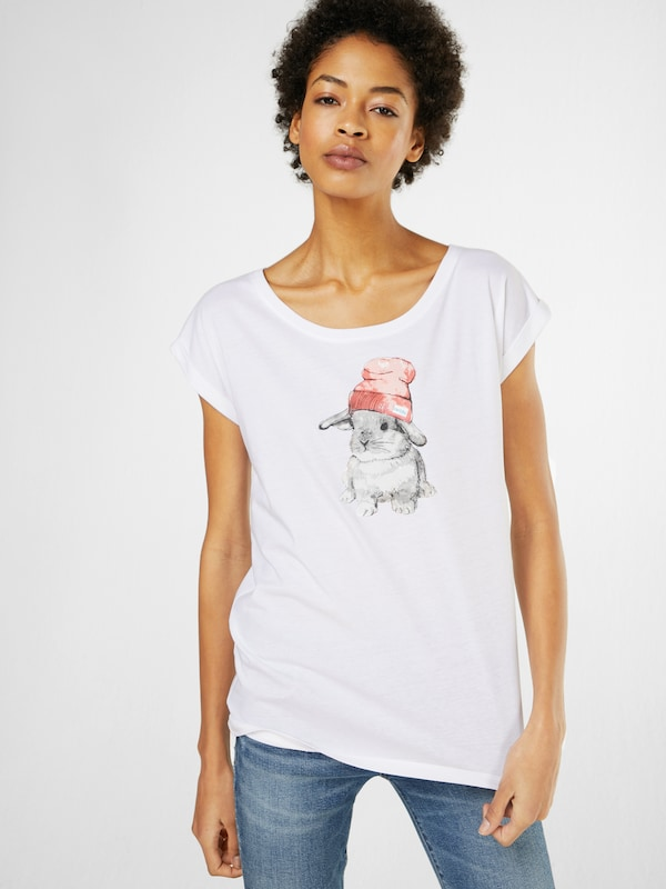 T GrisOrange 'it En Hasi' Clair Blanc Iriedaily shirt wk80nOP