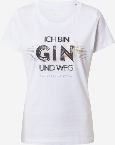 EINSTEIN & NEWTON T-shirt 'Gin Weg' en or / noir / blanc cassé, Vue avec produit