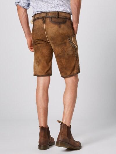 MARJO Pantalon folklorique 'Henry inkl. Gürtel' en marron: Vue de dos