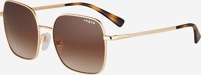 VOGUE Eyewear Sonnenbrille in braun / dunkelbraun / gold, Produktansicht