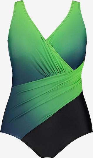 Ulla Popken Badpak in de kleur Groen / Zwart, Productweergave