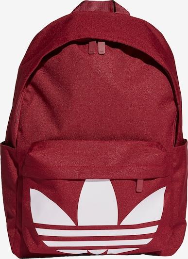ADIDAS ORIGINALS Rucksack in weinrot / weiß, Produktansicht