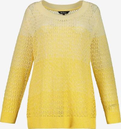 Ulla Popken Pull-over en jaune / jaune clair, Vue avec produit