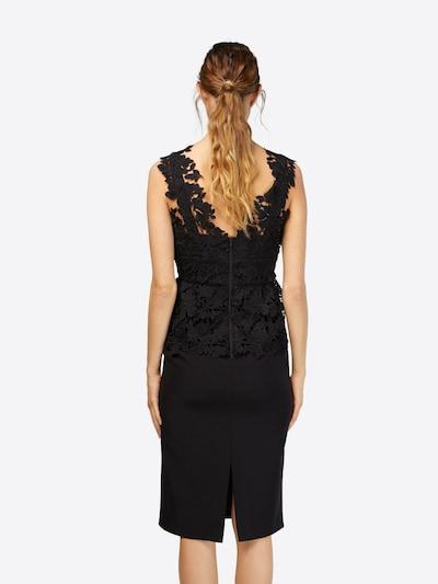 Bardot Kleid in schwarz: Rückansicht