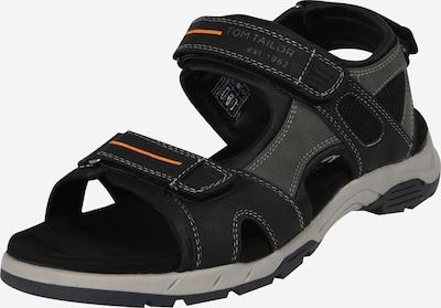 TOM TAILOR Sandale in grau / schwarz, Produktansicht