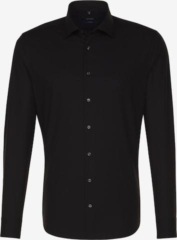 SEIDENSTICKER Businesskjorte 'Tailored' i svart