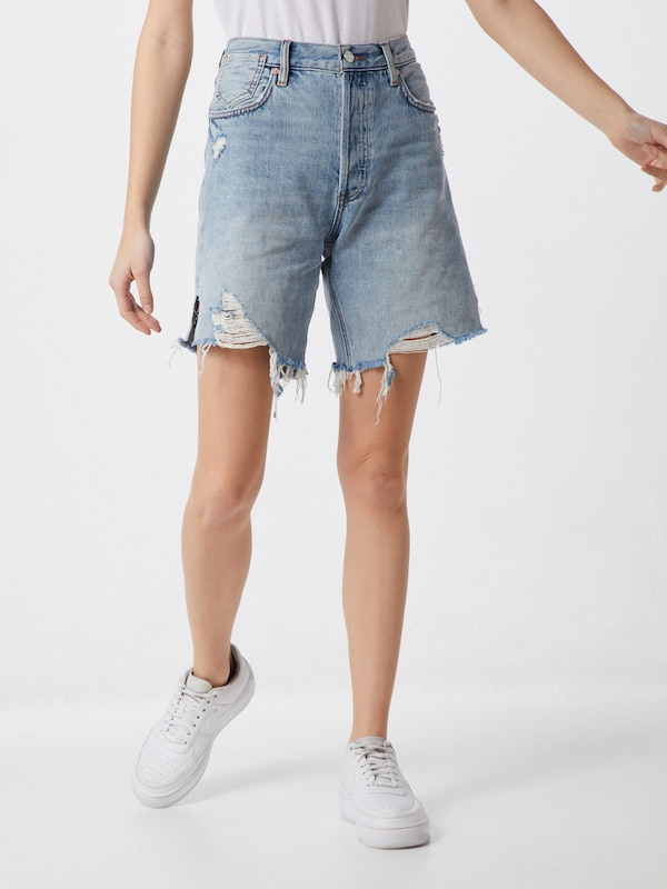 Free People Jeans-Shorts 'SEQUOIA' in blue denim, Modelansicht