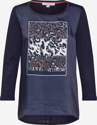 COMMA Langarmshirt in blau / mischfarben, Produktansicht