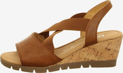 GABOR Sandalen/Sandaletten in braun, Produktansicht