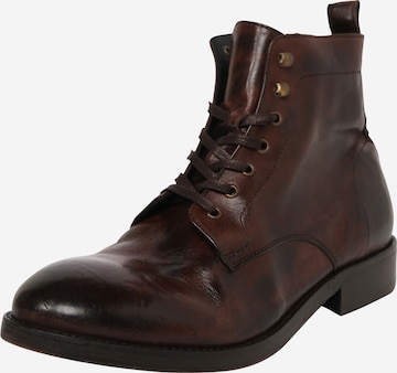 Hudson London Lace-Up Boots in Brown