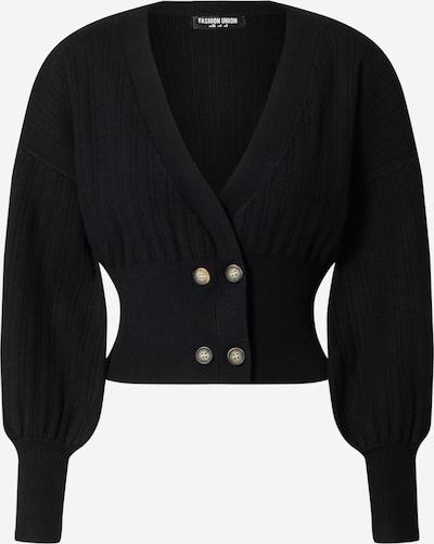 Fashion Union Strickjacke 'Meeker' in schwarz, Produktansicht