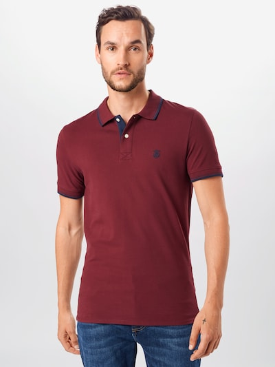 SELECTED HOMME Poloshirt in weinrot: Frontalansicht