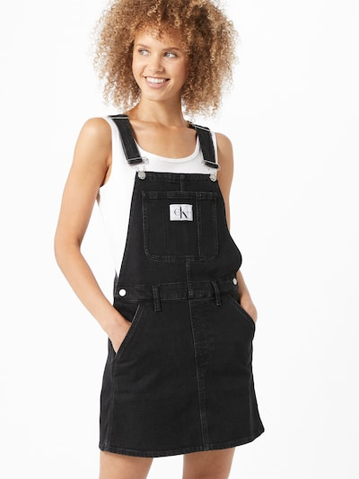 Calvin Klein Jeans Kleid in black denim, Modelansicht