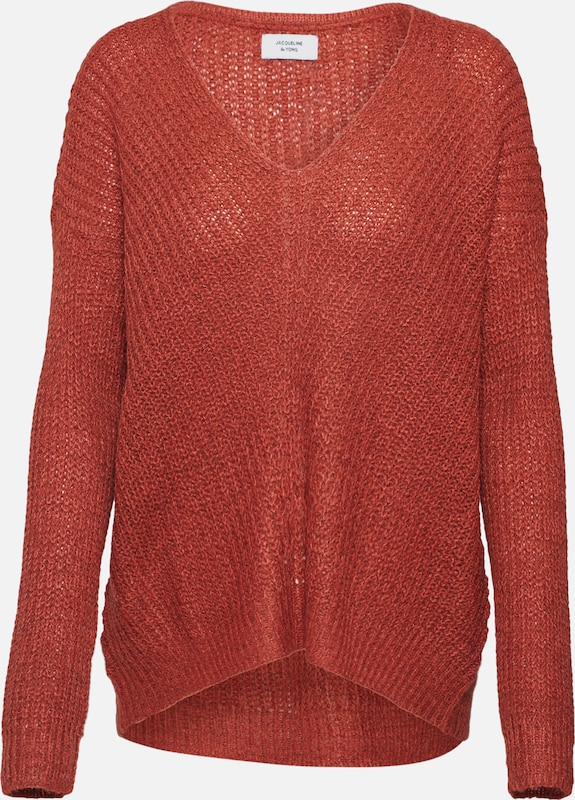 JACQUELINE de YONG Pullover in rot, Produktansicht