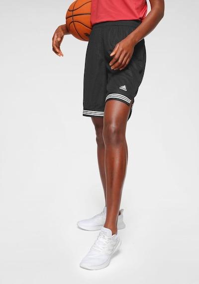 ADIDAS PERFORMANCE Športne hlače | črna / bela barva, Prikaz modela