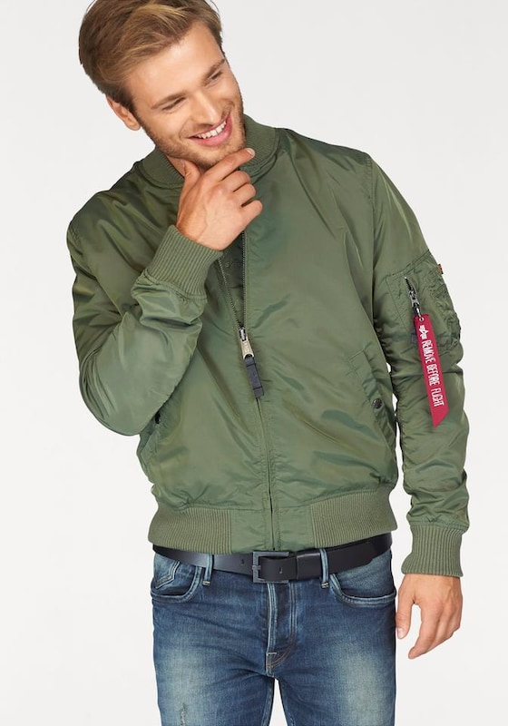 alpha industries bomberjacke 39 ma 1 tt 39 in gr n about you. Black Bedroom Furniture Sets. Home Design Ideas