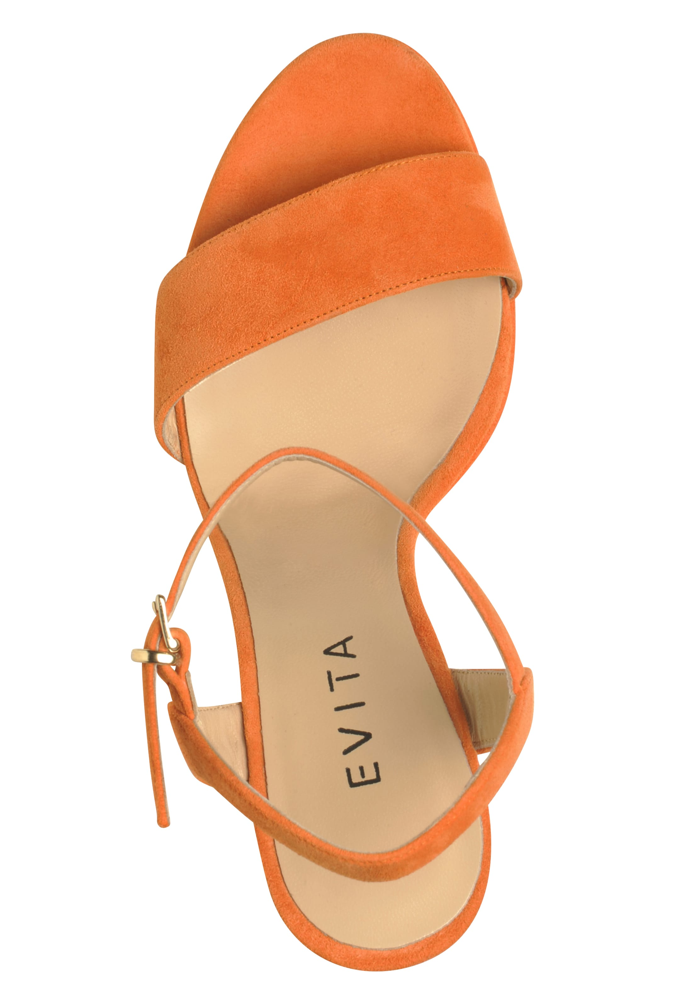 Damen Evita Sandalette Damen Sandalette Dunkelorange Evita In c1JFlK