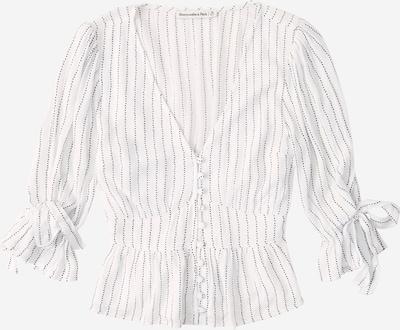 Abercrombie & Fitch Blouse 'PEASANT' in de kleur Zwart / Wit, Productweergave