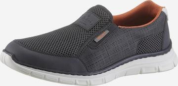 RIEKER Спортни обувки Slip On в синьо