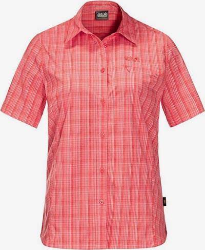 JACK WOLFSKIN Shirt 'Centaura' in hellrot / weiß, Produktansicht