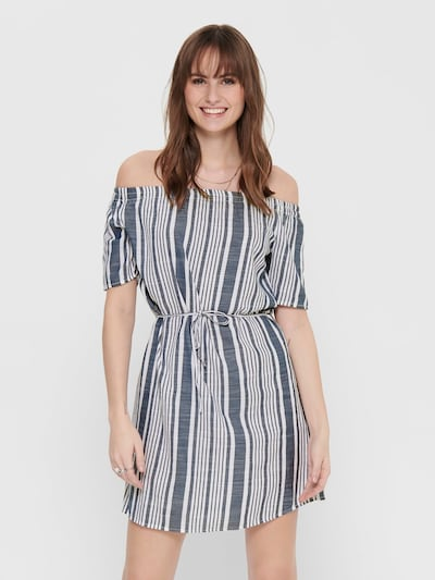 ONLY Kleid in blaumeliert / weiß, Modelansicht