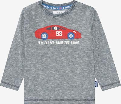 STACCATO Pullover in graumeliert / rot / weiß, Produktansicht