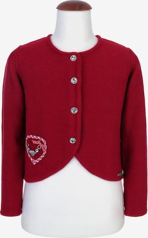 SPIETH & WENSKY Knit Cardigan 'Ribisel' in Red