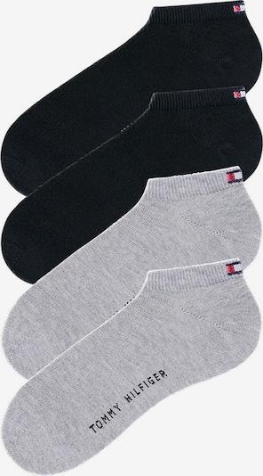 TOMMY HILFIGER Füßlinge (4 Paar) in grau / schwarz, Produktansicht