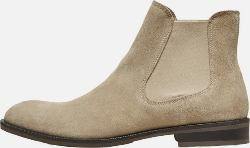 SELECTED HOMME Chelsea Boots in beige, Produktansicht