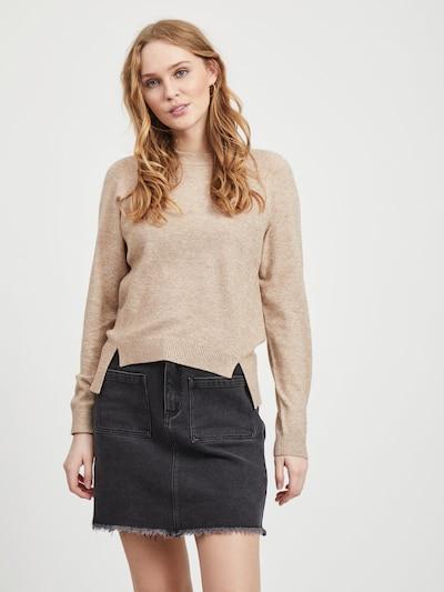 OBJECT Pullover in beigemeliert / braunmeliert, Modelansicht