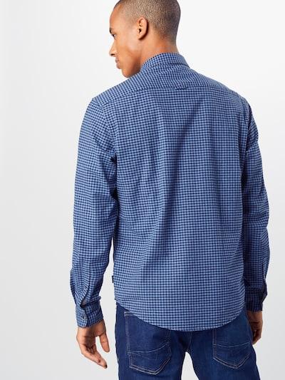 ESPRIT Overhemd 'cosy oxf chk ls' in de kleur Navy: Achteraanzicht