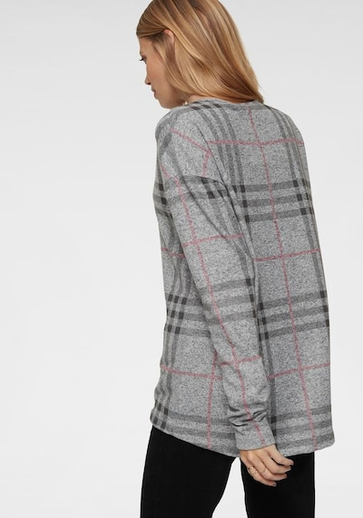 Aniston CASUAL Sweatshirt in graumeliert / rosa, Produktansicht