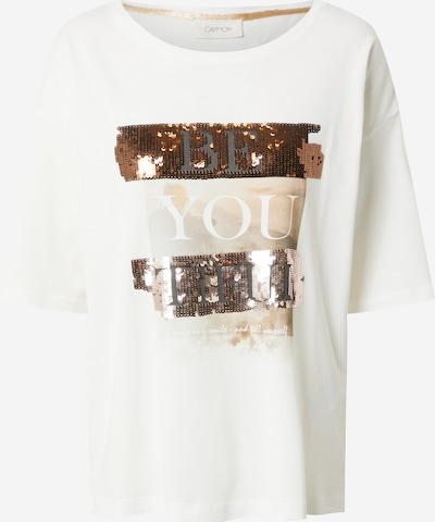 Cartoon Shirt in beige / hellbraun / schwarz, Produktansicht