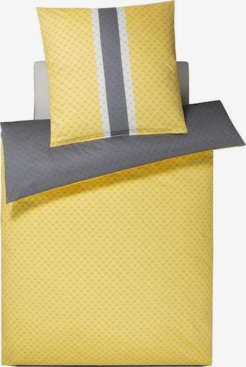 JOOP! Bettwäsche in gelb / grau / weiß, Produktansicht