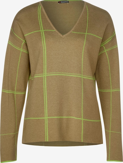 STREET ONE Pullover in braun / hellgrün, Produktansicht