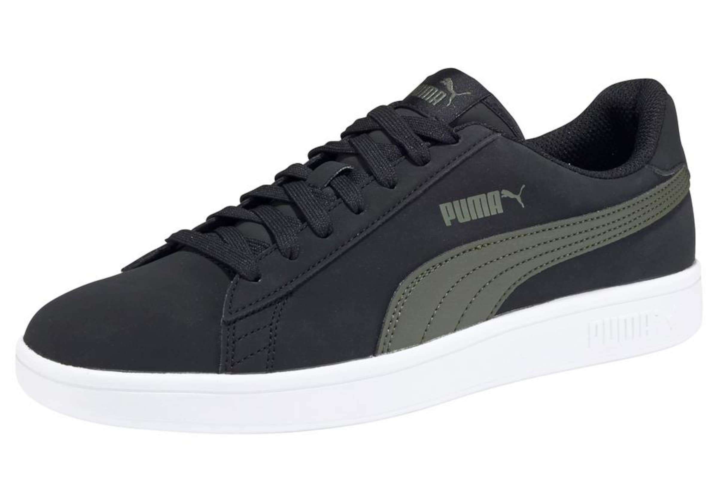 Puma Sneaker Buck' KhakiSchwarz In 'smash V2 Weiß iZuXkP