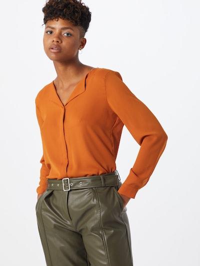 VILA Chemisier en orange foncé, Vue avec modèle