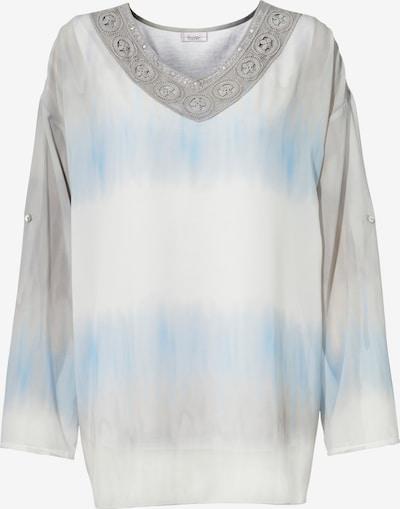 heine Batikbluse in blau / weiß, Produktansicht