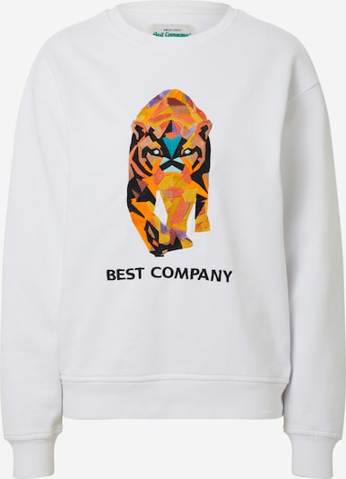 Best Company Sweatshirt 'CREW NECK OVER TIGER' in de kleur Wit, Productweergave