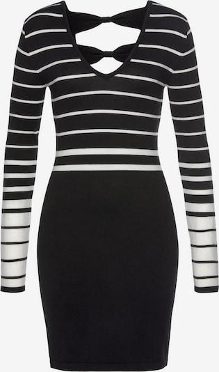 MELROSE Strickkleid in schwarz / weiß, Produktansicht