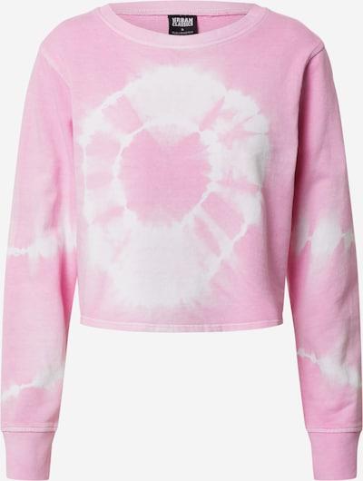 Urban Classics Sweatshirt 'Tie Dye' in de kleur Rosa / Natuurwit, Productweergave