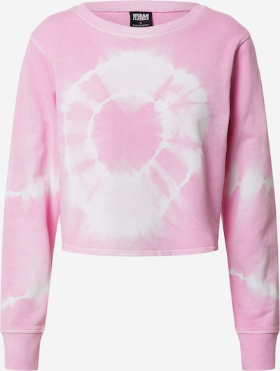 Bluză de molton 'Tie Dye' Urban Classics pe roz / alb natural, Vizualizare produs