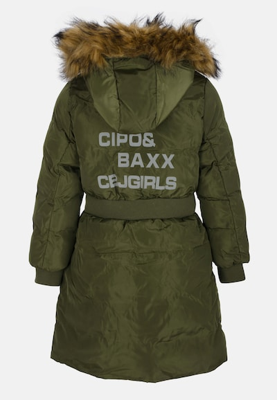 CIPO & BAXX Jacke Okay mit wärmender Kapuze in grün, Produktansicht