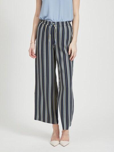 VILA Hose in blau / schwarz / weiß, Modelansicht