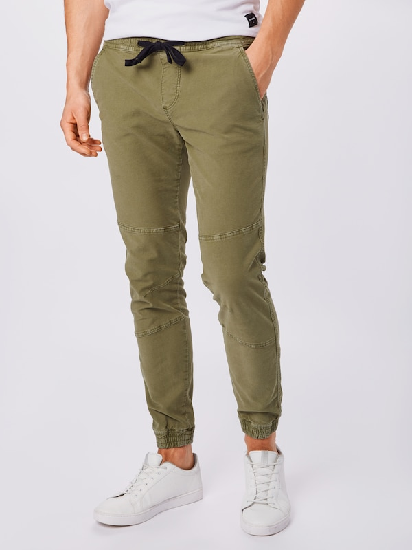 TOM TAILOR DENIM Hose in oliv, Modelansicht
